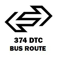 374 DTC Bus Route Nand Nagri Terminal to Nehru Place Terminal
