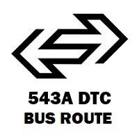 543A DTC Bus Route Anand Vihar (ISBT) to Kapashera Border