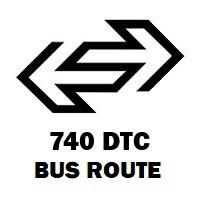 740 DTC Bus Route Uttam Nagar Terminal to Anand Vihar Isbt