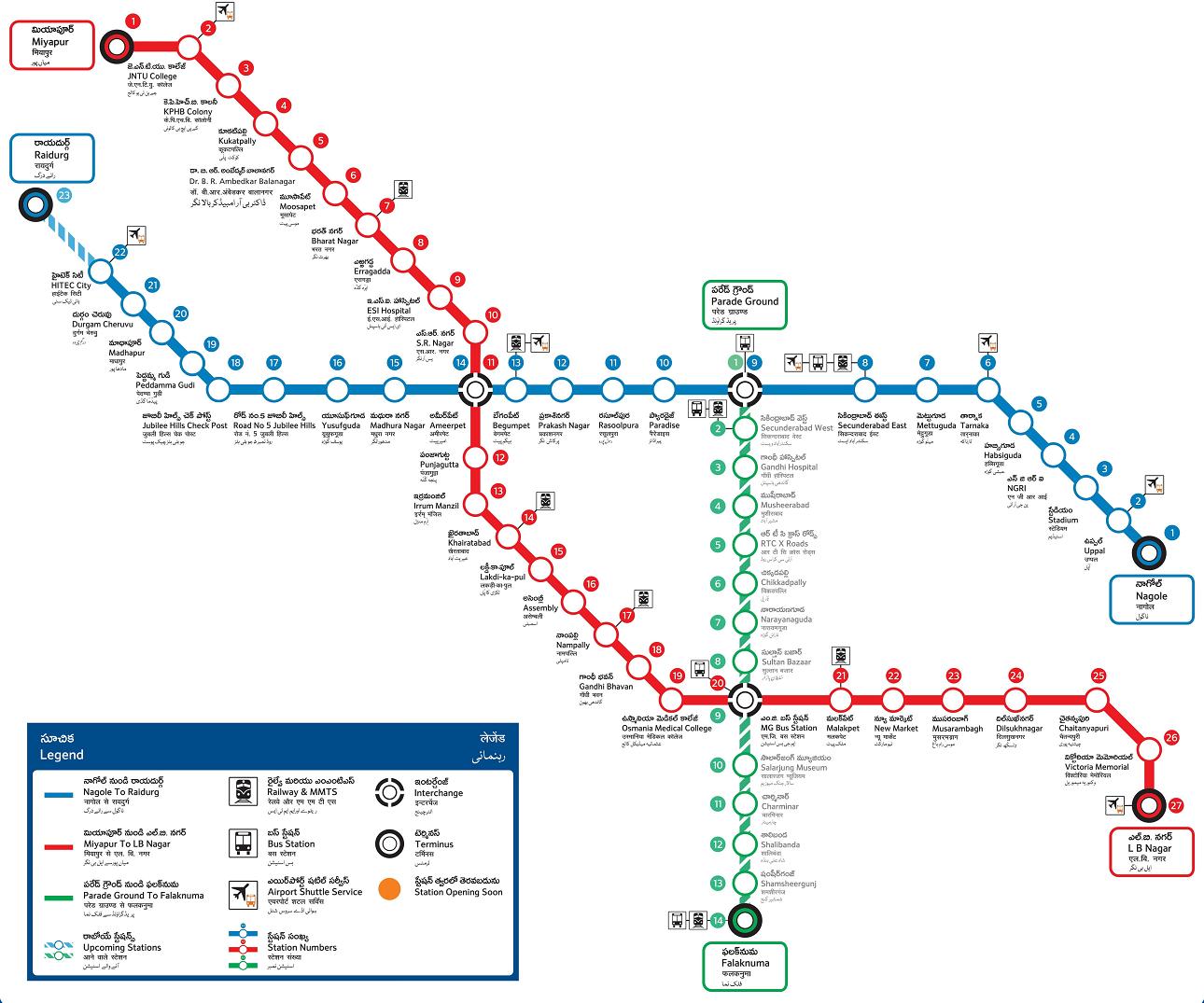 Hyderabad Metro Map
