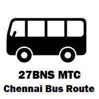 27BNS Bus route Chennai C.M.B.T. to Triplicane