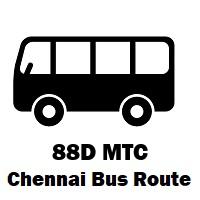 88D Bus route Chennai Saidapet West to Vazhuthalambedu Rd. Jn