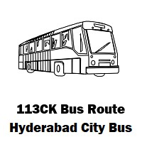 113CK Bus route Hyderabad Uppal Bus Stop to Kphb Colony Bus Stop