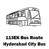 113EK Bus route Hyderabad Uppal Bus Stop to Lingampally Bus Stop