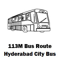 113M Bus route Hyderabad Uppal Bus Stop to Mehdipatnam Bus Stop