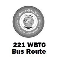221 Bus route Kolkata Nagerbazar to Golpark