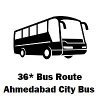 36* AMTS Bus route Sarangpurterminus to Sarkhej Gaam
