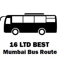 16 LTD Bus route Mumbai Wadala Depot to S.R.A.Colony (Washi Naka)
