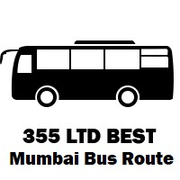 355 LTD Bus route Mumbai Trombay to Vesave Yari Road Bus Station