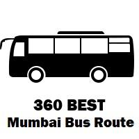 360 Bus route Mumbai Trombay to Kurla Bus Station ( E )