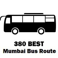 380 Bus route Mumbai Trombay to Amrut Nagar