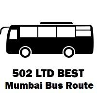 502 LTD Bus route Mumbai Wadala Depot to Nerul Sector 46/48