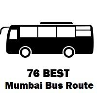 76 Bus route Mumbai Mantralaya to Dharavi Depot