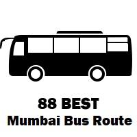88 Bus route Mumbai Mantralaya to Pratiksha Nagar Depot