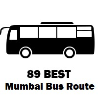 89 Bus route Mumbai Mantralaya to Worli Depot