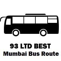 93 LTD Bus route Mumbai Mantralaya to Govandi Bus Station