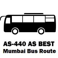 AS-440 AS Bus route Mumbai Wadala Depot to Borivali Station (E)