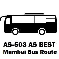 AS-503 AS Bus route Mumbai Wadala Depot to Kalamboli Bus Station