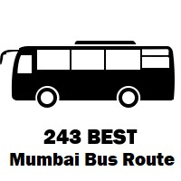 243 Bus route Mumbai Malad Station (W) to Jankalyan Nagar