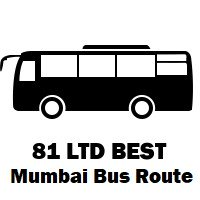 81 LTD Bus route Mumbai Mantralaya to Santacruz Depot