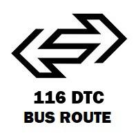 116 DTC Bus Route Bawana Jj Colony to Fatehpuri