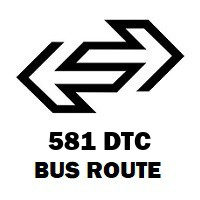 581 DTC Bus Route Hamdard Nagar to Kendriya Terminal