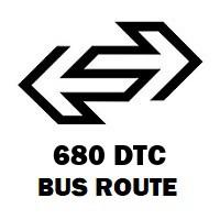 680 DTC Bus Route Ambedkar Nagar Sector 4 Virat Cinema to All India Radio Ndpo