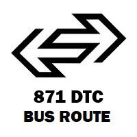 871 DTC Bus Route Nizamuddin Railway Station to Vikaspuri Block H 3