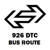 926 DTC Bus Route Fatehpuri to Tikri Border