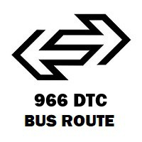 966 DTC Bus Route Nizamuddin Railway Station to Nangloi Jj Colony