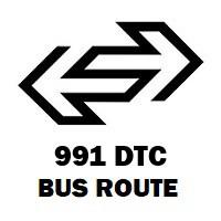 991 DTC Bus Route Shivaji Stadium to Mubarakpur Dabas