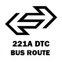 221A DTC Bus Route Jhilmil Colony Crossing to Mori Gate Terminal