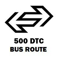 500 DTC Bus Route Saket to New Delhi Rly. Stn G. No. 2
