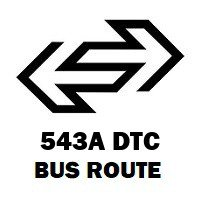 543A DTC Bus Route Anand Vihar (ISBT) to Kapashera Border