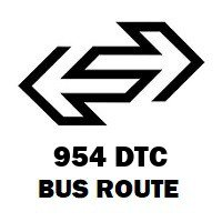 954 DTC Bus Route Ambedkar Stadium to Sultanpuri Block C 9