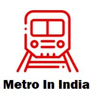 Metro routes in India