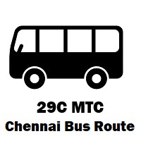 29C Bus route Chennai Perambur R.S to Besant Nagar