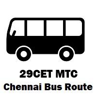29CET Bus route Chennai Perambur R.S to Thiruvanmiyur