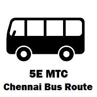 5E Bus route Chennai Vadapalani B.S to Besant Nagar