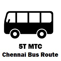 5T Bus route Chennai Vadapalani B.S to Taramani