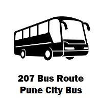 207 Bus route Pune Swargate to Saswad Stand