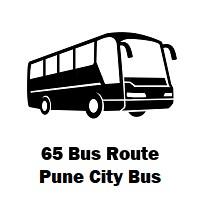 65 Bus route Pune Rajiv Gandhi Nagar Upper Depot to Maharashtra Housing Yerwada