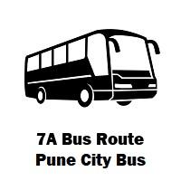 7A Bus route Pune Hadapsar Gadital to Urali Kanchan