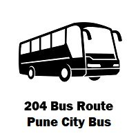 204 Bus route Pune Hadapsar Gadital to Chinchwad Gaon