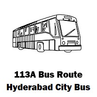 113A Bus route Hyderabad Uppal Bus Stop to A G Colony