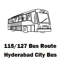 115/127 Bus route Hyderabad Uppal Bus Stop to Hitech City Bus Stop