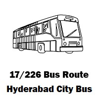 17/226 Bus route Hyderabad Ecil Bus Stop to Lingampally Bus Stop