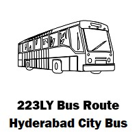 223LY Bus route Hyderabad Yousufguda Basti Bus Stop to Lingampally Bus Stop