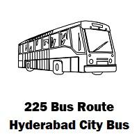 225 Bus route Hyderabad Patancheru Bus Stop to Koti Bus Stop