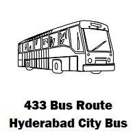 433 Bus route Hyderabad Ibrahimpatnam Bus Station to Azzinatanda